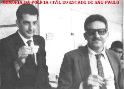 """Investigadores Miguel Franco """"in memorian"""" (à direita) e (?), no momento do cafezinho, década de 60. (Acervo do filho Vagner M Franco)."""