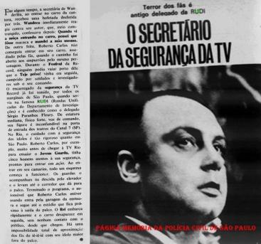 """Matéria da Revista Intervalo de janeiro de 1.967, sobre o Delegado de Polícia Sérgio Fernandes Paranhos Fleury """"in memoriam""""."""