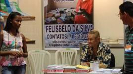 Stand na Bienal do Livro da Bahia, do Escritor e Investigador de Polícia de São Paulo (hoje com 75 anos e aposentado), Felisbelo da Silva, em novembro de 2.013. #BelinhoBienaldoLivroBA2013