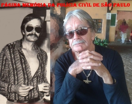 Investigador Luis Buttes na 1ª Delegadia de Roubos da DISCCPAT- DEIC (Kilo), na década de 70 e atualmente.