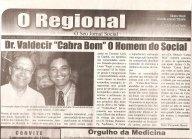 """Delegado de Polícia Valdecir """"Cabra Bom"""" em reportagem com o Governador Geraldo Alckmin, em dezembro de 2.010."""