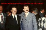 """Delegados """"in memorian"""", Senador da República Romeu Tuma e Jair de Castro Oliveira Vicente, atrás o Delegado Roberto Quass, ex diretor da DI-DOPS. na década de 80."""