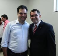 Deputado Estadual Bruno Covas e o Vereador Delegado de Polícia Higor Vinicius Nogueira Jorge de Santana da Ponte Pensa/SP.
