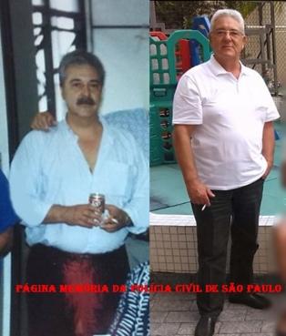 Investigador de Polícia Jose Arthur Padula no final da década de 70 e atualmente. https://memoriadapoliciacivildesaopaulo.com/policiais-civis-na-linha-do-tempo