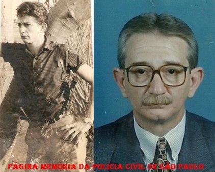 Delegado de Polícia Paulo Viesi. Quando Investigador na década de 60 e atualmente.