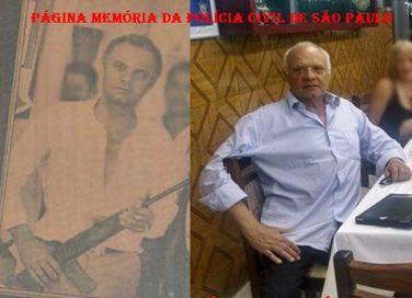 Delegado de Polícia Djahy Tucci Junior, quando Investigador em Bragança Paulista, no início da década de 70 e atualmente.