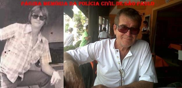 Investigador de Polícia Walter Lang no início da década de 70 e atualmente.