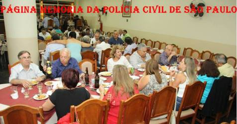 De frente na mesa em primeiro plano Delegados Sérgio Baffi Soares, Arlindo Orsomarzo, Cidinha Gobbetti , Luiz Spinola e Manoel Adamuz Neto. Núbia Baptista Ribeiro, Silvia Costa