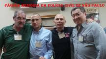 4º Encontro da Velha Guarda da Polícia Civil de São Paulo, em 28 de novembro de 2.014. Investigador Gilberto Capeli, Dr. Paulo Fleury, Investigadores Marcelão Monteiro e Henry Lee