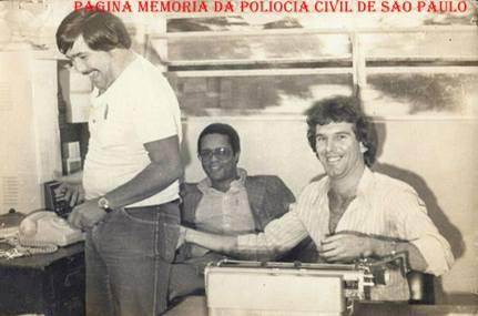 Invesrtigadores da Seccional de Ourinhos, na década de 70.