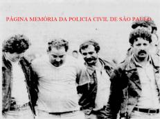 Prisão dos sequestradores do joalheiro português Américo, no início da década de 80. À partir da esquerda, o saudoso Investigador Chen Cha Pan Ferraz Falcão; o sequestrador preso Nelson; Investigadores (?) e Tobias.