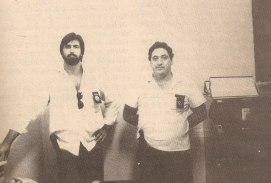 Os investigadores Mássimo Palazzolo (hoje Juiz Federal) e Renê, da Segunda Delegacia do Denarc (junho de 1990).