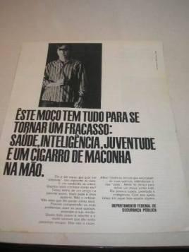 Propaganda antiga do Departamento Federal de Segurança Pública, década de 60.