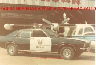 Raríssimo registro no Aeroporto de Congonhas, da viatura da RONE, marca Ford- Maveric, cedido pela montadora e preparado pelo então Delegado da RONE, George H Millard, no início da década de 70.