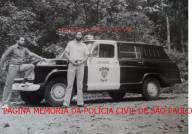 Viatura da RONE Norte- Ronda Unificada Noturna e respectivos componentes, o Agente Policial Miguel Capitão Garcia e Investigador Walter Edgar Hauer, na Serra da Cantareira/SP, em agosto de 1.972. https://www.facebook.com/MemoriaDaPoliciaCivilDoEstadoDeSaoPaulo/photos/a.399685730154004.1073741858.282332015222710/1230178657104703/?type=3&theater