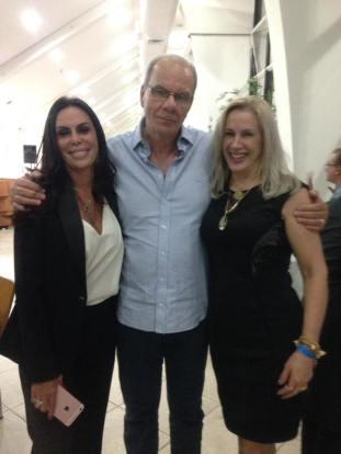 Dra Ivana David, João Alckimin e Dra Elaine Biasoli