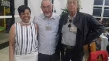 Dra Maria Mattos, Hugo Hira e Rambo.