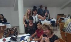 Ana Maria, Dra Maria Maria Lima Matos e Dra Aparecida Gobetti. Ao fundo Dr Ferreti e Japa
