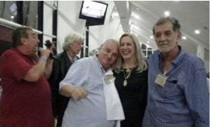 """Dr Paulo R Queiroz Motta, Antonio Fernandes Martins Luiz Melchiades Piacentini, Dra Elaine Biasoli e Adalberto""""Pincel"""""""
