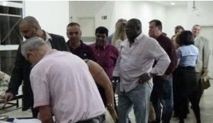 Fernando Faria, Nicolau Cocitta, Brito, Dr Eduardo Salaroli e Erick Amancio, Dr Ricardo Mello Vargas, Galdino e Dr Reinaldo Correa.