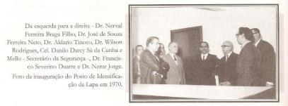 Inauguração do Posto de Identificação da Lapa, em 1970. https://www.facebook.com/MemoriaDaPoliciaCivilDoEstadoDeSaoPaulo/photos/a.334989943290250.1073741838.282332015222710/335240063265238/?type=3&theater